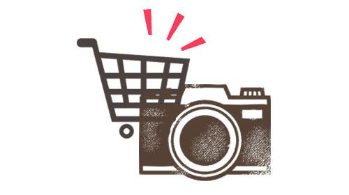 カメラとショッピングカート